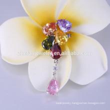 Customized flower shaped / poppy custom wholesale brooch