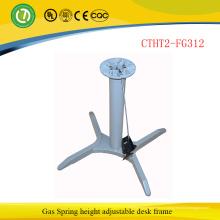 Мода регулируемый металлический каркас офисная мебель стоя стол исполнительный офисный стол