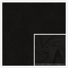 Jet Black Anti-Pilling Polar Fleece Plain Polyester Fleece FDY 150d/96f