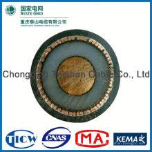 Profesional de alta calidad hv 26 / 35kv conductor de cobre xlpe cable de alimentación aislada cable de acero swa cable
