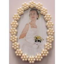 Fotorahmen Oval Perlen Hochzeit