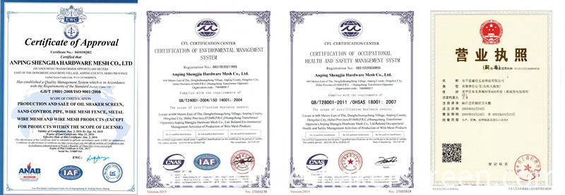 Certification of hexagonal wire mesh