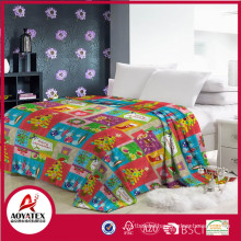 100% polyester promotion soft colorful christmas gift fleece blanket