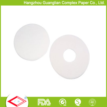 Personalize o papel de cozimento de forma redonda Siliconised de 8 polegadas com furos