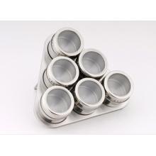 Stainless Steel Spice Rack Set (CL1Z-J0604-6D)