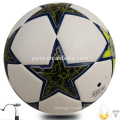 Official size5 PU leathered soccer ball football with customized logo and printings