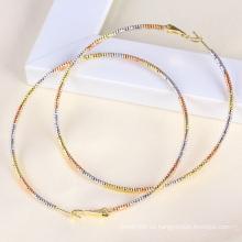 Multicolor plateado Big Circle moda pendiente (23820)