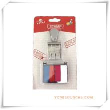 Sello número de sello de fecha y hora con tinta de 4 colores para regalos promocionales (OI36020)