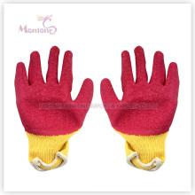 Gants de travail de sécurité de coton trempés par nitrile de palmier de 21gauge, gants de jardin
