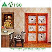 French Solid Door with Decorative Class Fsc ISO9001