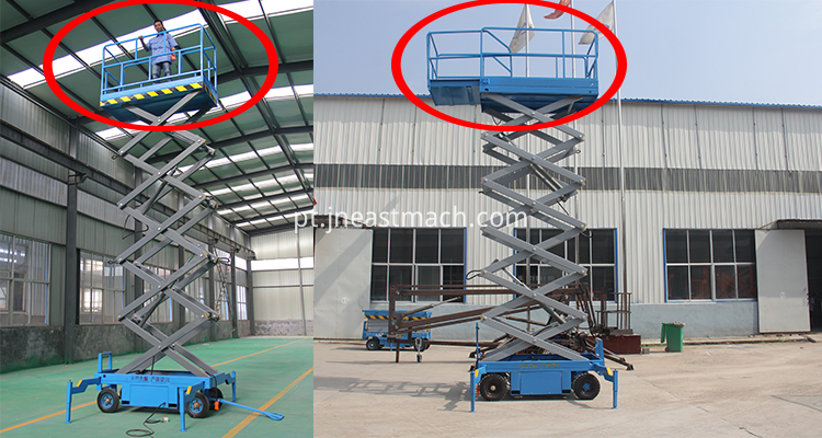 300kg 500kg 1000kg Capacity Electric Scissor Lift Platform Four Wheel Lifter