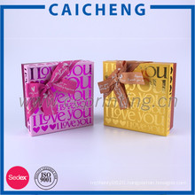 Sweet paper box bow tie gift packaging paper box