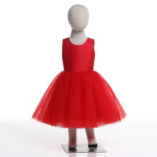Chinese Red Flower Girl Dress for Wedding and Ceremonial