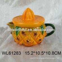 Смазливая ананас формы керамический чайник, керамический чайник для оптовой продажи