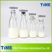 500 ml 1000 ml 1500 ml Clip Keramik Deckel Klarglas Milchflaschen