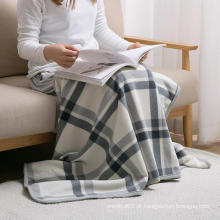 Cama macia e quente em casa Sofá cobertor polar