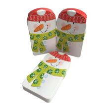 Emballage en étain en forme de bonhomme de neige Promotion promotionnelle en gros Noël