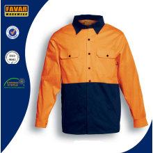 100% хлопок длинные рукава Привет Vis саржевого безопасности работы рубашка