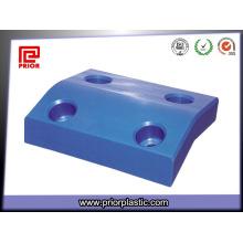 Produto feito sob encomenda azul de UHMWPE com furos