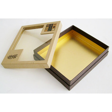 Caja de papel de embalaje de ventana de PVC para pastel de joyería de chocolate
