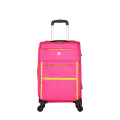 Roze trolleybagage voor dames, zacht polyester
