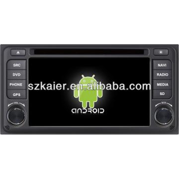 Reproductor de DVD del coche Android System para Toyota ETIOS con GPS, Bluetooth, 3G, iPod, juegos, zona dual, control del volante
