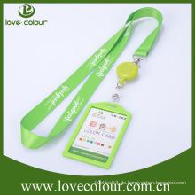Kundenspezifischer einziehbarer ID-Abzeichenhalter mit Polyester-Lanyard