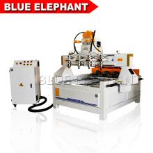 Venta caliente multi husillo 4 eje cnc enrutador 0809, máquina de carpintería con dispositivo rotativo