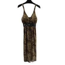 Vestido de club con vaina con estampado de leopardo para mujer