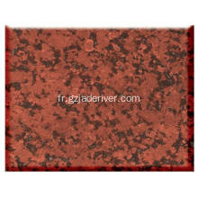 Lot de pierres naturelles de granit rouge en gros
