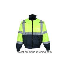 Veste de sécurité étanche à haute visibilité à l'hiver avec doublure en molleton détachable