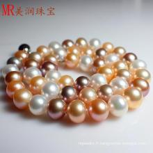 Collier de perles d'eau douce naturelle et de couleur mixte (EN1428)