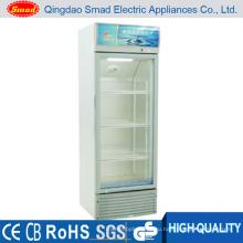 Вертикальный стеклянный дверной супермаркет Коммерческий дисплей Холодильник
