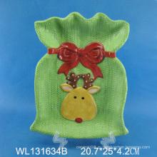 Ручная роспись Керамическая пластина Рождественская коробка, Рождественская оленьная доска