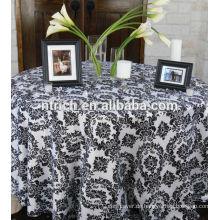 Polyester Taft Beflockung, Tischdecke, Tisch Overlay, Tischläufer für Hochzeiten