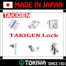 Ampla gama de produtos para dobradiça, trava, permanência e manipulação. Fabricado por Takigen Mfg. Co., Ltd. Made in Japan (bloqueio TAKIGEN)