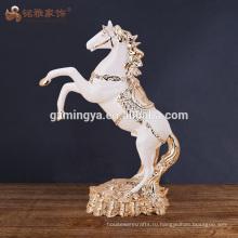 Оптовая handmade поделки полистоуна лошадь статуэтка скульптура