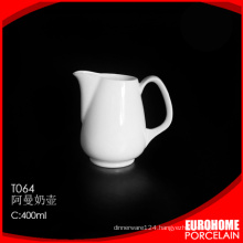 suitable for restaurant cheap white china milk jug