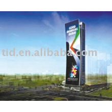 Reflective outdoor advertising material