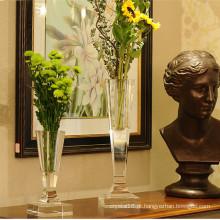 Ofício de vaso de flor de vidro europeu de cristal nobre