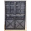 Industrial Metal Cabinet Big Size Natural Metallic Finish