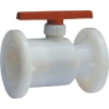 Válvula de esfera flangeada / válvula de esfera de plástico / válvula de esfera do PVC