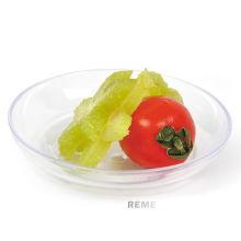 Plato de plástico Plato desechable Mini bandeja de té Grado alimenticio