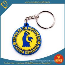 Fashion Wholesale Souvenir Custom 2D/3D Debossed Cartoon Logo Metal Rubber Silicone Plastic Soft PVC Keychain for Promotional