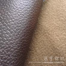 Imitação de couro respirável couro do plutônio de tecido para o sofá