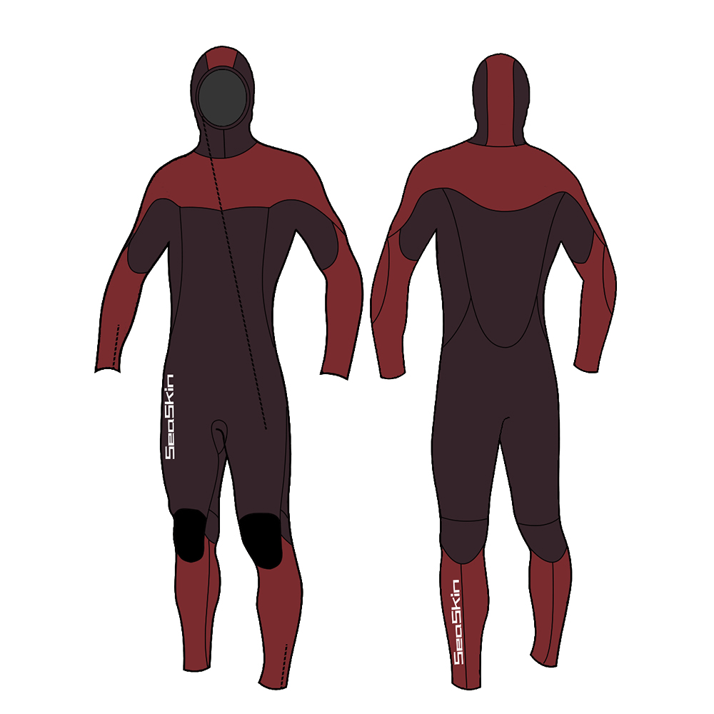 Seaskin Hooded Full Wetsuit Mens