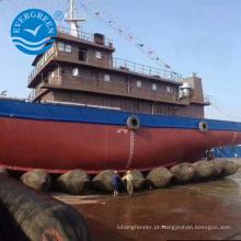 sacos de ar marinhos da borracha natural do airbag de borracha do navio / barco / embarcação