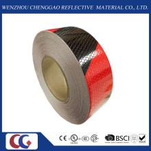 """2 """"pol. X 150"""" Favo de mel preto / vermelho duplo cores fita reflexiva (C3500-S)"""
