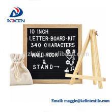 heißer Verkauf Eiche Holzrahmen 10 x 10 Brief Board mit Ständer