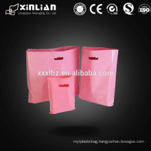 HDPE plastic packing die cut handle bag for clothes